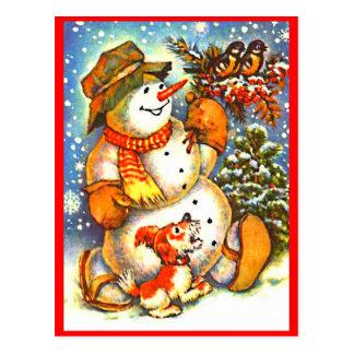 De Sneeuwman van Kerstmis, Briefkaart van de