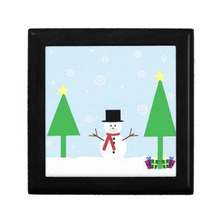 De Sneeuwman van Kerstmis Decoratiedoosje