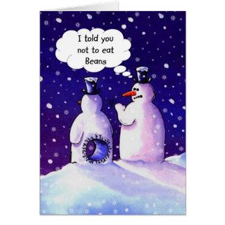De sneeuwmannen, eten geen bonen!!!! briefkaarten 0