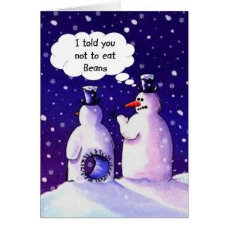 De sneeuwmannen eten geen Bonen Kaart