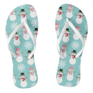 De Sneeuwmannen van Kerstmis Teenslippers
