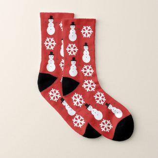 De Sneeuwvlokken & de Sneeuwmannen van Kerstmis Sokken
