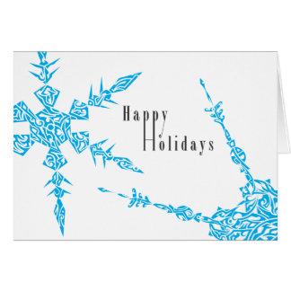 De Sneeuwvlokken van de vakantie Briefkaarten 0