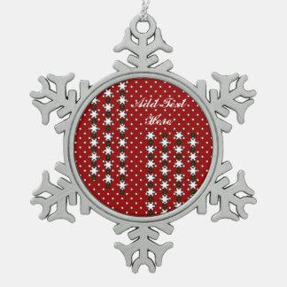 De Sneeuwvlokken van de winter Tin Sneeuwvlok Ornament