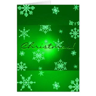 De Sneeuwvlokken van Kerstmis Groen in het Engels Wenskaart