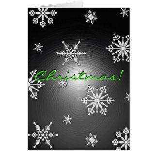 De Sneeuwvlokken van Kerstmis Zwart en Grijs in En