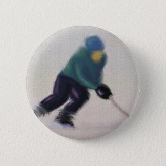De Snelheid van het hockey, Knoop Ronde Button 5,7 Cm