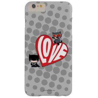 De Snelle aanval van Catwoman van Chibi op Batman Barely There iPhone 6 Plus Hoesje