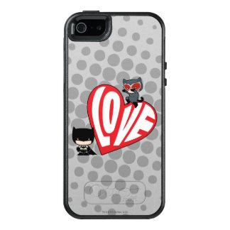 De Snelle aanval van Catwoman van Chibi op Batman OtterBox iPhone 5/5s/SE Hoesje