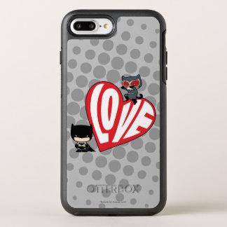 De Snelle aanval van Catwoman van Chibi op Batman OtterBox Symmetry iPhone 8 Plus / 7 Plus Hoesje