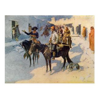 De Snoeken die van Zebulon Fe van de Kerstman Briefkaart