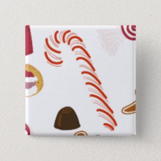 De Snoepjes van de Schatten van Kerstmis, het Riet Vierkante Button 5,1 Cm