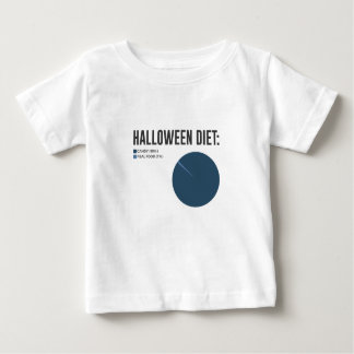 De Snoepjes van het Dieet van Halloween behandelen Baby T Shirts