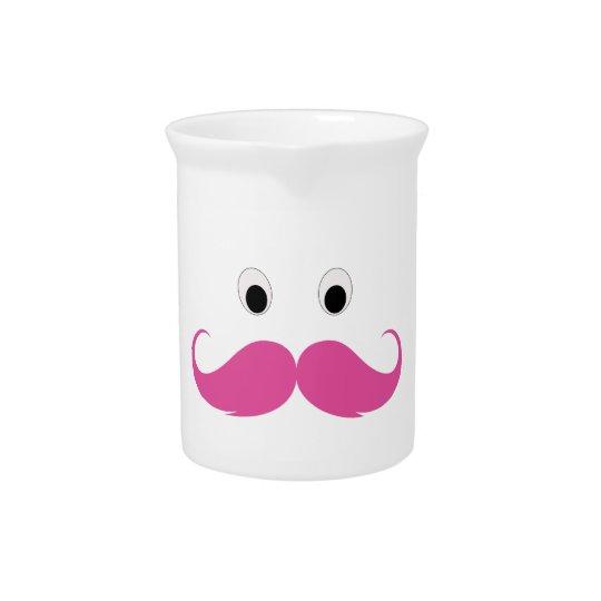De snor in roze is grappig pitcher