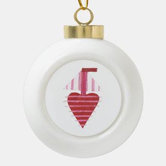 De Snuisterij van de Boot van Loveheart Keramische Bal Ornament