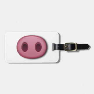 De Snuit van PinkPig Bagagelabel