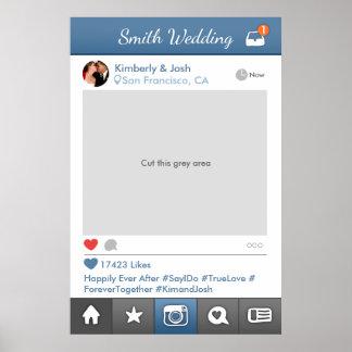 De sociale Cabine van de Foto van het Huwelijk van Poster