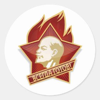 De Socialist van Vladimir Lenin van de Organisatie Ronde Sticker