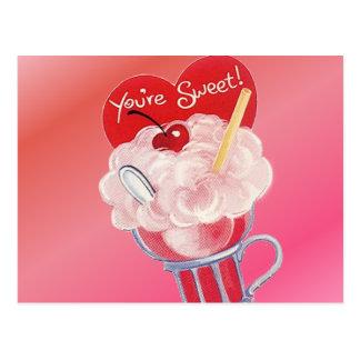 De Soda van het Roomijs van Valentijn Briefkaart
