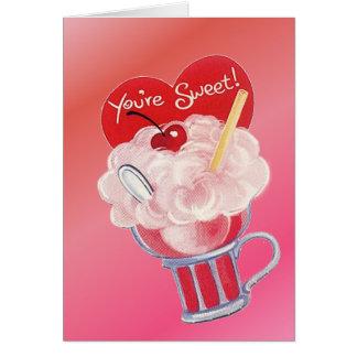 De Soda van het Roomijs van Valentijn Kaart