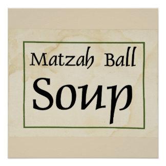 De Soep van de Bal van Matzah Poster