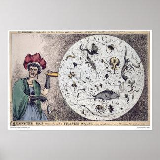 De Soep van het Monster van het Water van Theems Poster