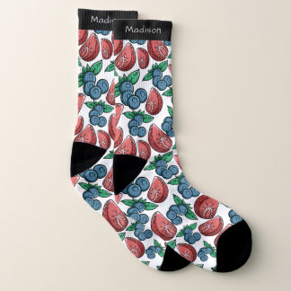 De sokken van de de douanenaam van het Patroon van