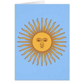 De Sol DE Mayo van Argentinië Kaart