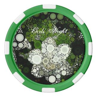 De Spaander van de Pook van de Nacht van Girl van Pokerchips
