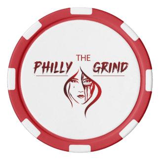 De spaander van de Pook van het Malen Philly Pokerchips