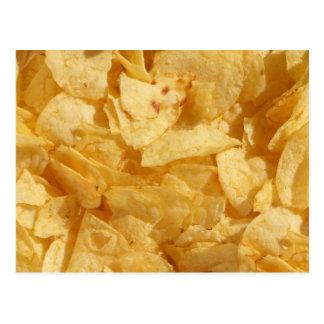 De spaanders van chips briefkaart