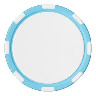 De Spaanders van de pook met de Blauwe Gestreepte Pokerchips
