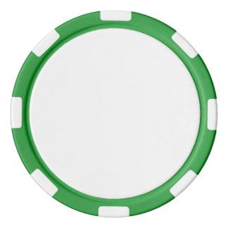 De Spaanders van de pook met Groene Gestreepte Pokerchips