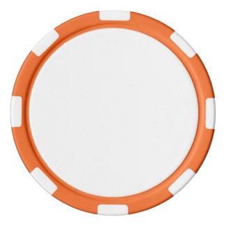De Spaanders van de pook met Oranje Gestreepte Pokerchips