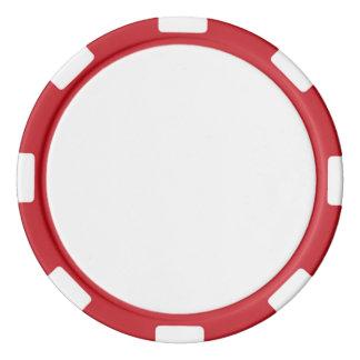 De Spaanders van de pook met Rode Gestreepte Rand Pokerchips