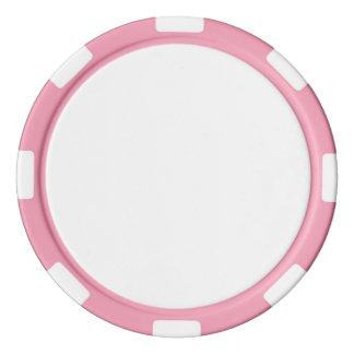 De Spaanders van de pook met Roze Gestreepte Rand Pokerchips