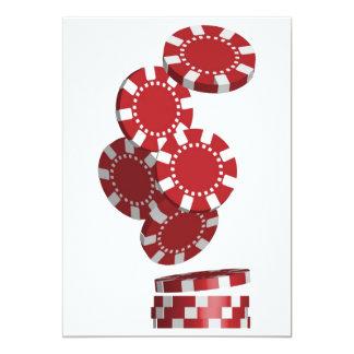 De Spaanders van het casino/van de Pook 12,7x17,8 Uitnodiging Kaart