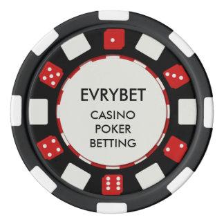 De Spaanders van het Casino van EvryBet Pokerchips