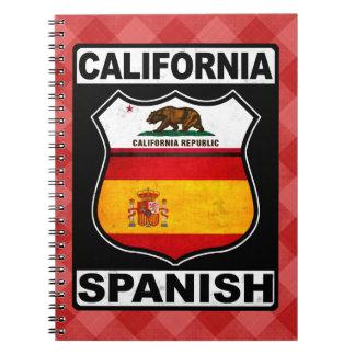 De Spaans-Amerikaanse Blocnote van Californië Notitieboek