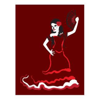 de Spaanse danser van de suikerschedel Briefkaart