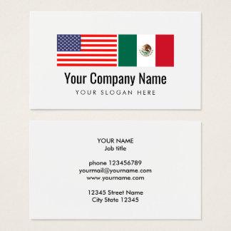De Spaanse Engelse Amerikaanse Mexicaanse vlag van Visitekaartjes