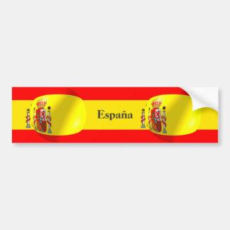 De Spaanse Sticker van de Bumper van de Vlag