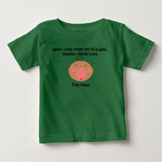 De Spaanse T-shirt van het Baby van de Taal Leuke