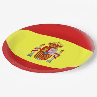 De Spaanse Vlag van Spanje Papieren Bordje