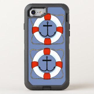 De Spaarder van het leven en de Telefoon van de OtterBox Defender iPhone 7 Hoesje