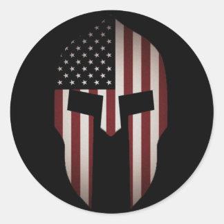 De Spartaanse V.S. Ronde Sticker