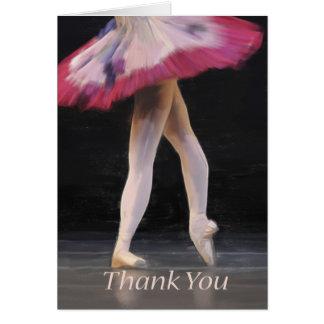 De Spatie van de balletdanser dankt Wenskaart