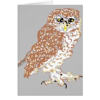 De Spatie van de Kaart van de nota binnen /Owl