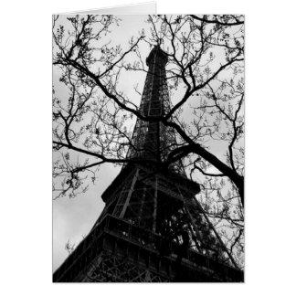 De Spatie van Parijs van de Toren van Eiffel Alle Wenskaart