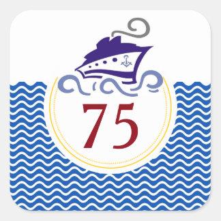 De speciale Stickers van de Viering van de Cruise